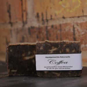 """Produktfoto der palmölfreien Seife """"Coffea"""" von Seifengarten in Oderberg"""