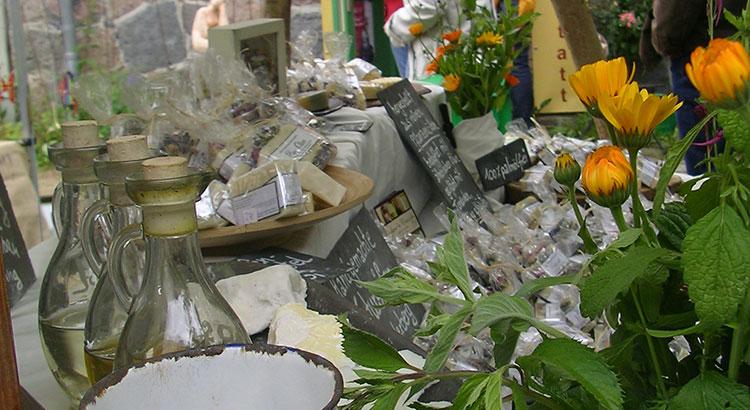 Seifengarten Marktstand