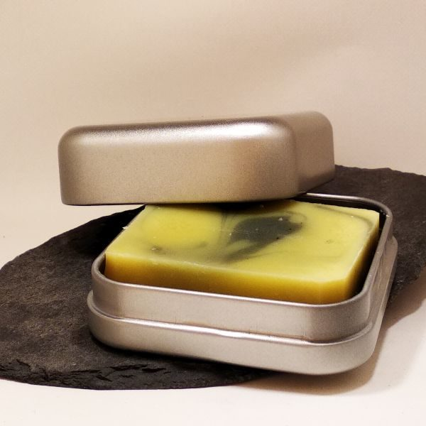 Seifendose aus Weißblech - Quadrat